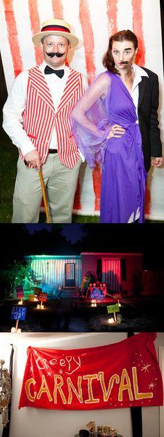 creepy carnival Halloween party!