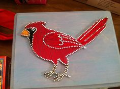 i love string art! Cardinal String & Nail Art  Customizable by FaceDesigns on Etsy, $60.00