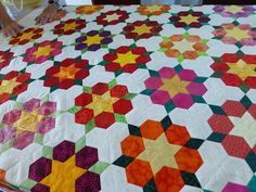 diamond and hexies  paperpieces.com
