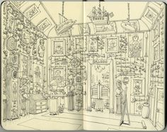Commissions and sketches early 2012 by Mattias Adolfsson, via Behance