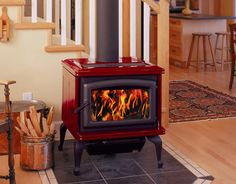 gas stove in fireplace