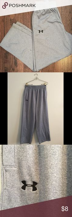 Under Armor Pants Brand: Under Armour Size: Large Color: Blue/Gray Description: Mens under armour pants. Drawstring. Couple of marks on the left leg (noted in pictures). Under Armour Pants Sweatpants & Joggers