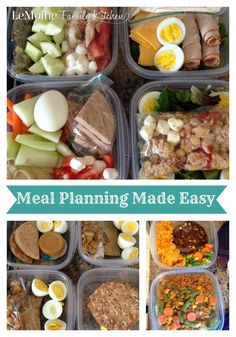 Meal Planning Made Easy | LeMoine Family Kitchen. Healthy, easy, delicious prep ahead meals. Tips & ideas for breakfast, lunch & snacks.