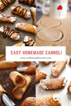 Homemade Cannoli