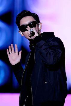 "sehunoh: """"pushed back black hair + sunglasses = a good look "" """
