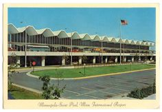 Minneapolis Saint Paul International Airport (MSP) Minnesota 1960's...........A lot has changed since then. You can 't see the terminal until you get up to it because of the parking structure in front of it.