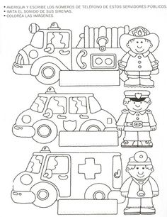 Community helpers worksheets for kids 1 worksheet printables . community helpers worksheets for kids preschool Community Helpers Worksheets, Community Helpers Crafts, Community Helpers Kindergarten, Kindergarten Worksheets, Worksheets For Kids, Autism Teaching, Grande Section, Transportation Theme, Preschool Activities