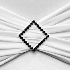 Black Diamond Chair Buckle Sash Pin Catering Wedding Party Decorations - x Black Tablecloth, Chair Sashes, Diamond Supply, Diamond Brooch, Art Deco Wedding, Glitz And Glam, Different Light, Chair Fabric, Metal Buckles