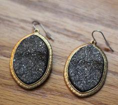 Druzy earrings $15