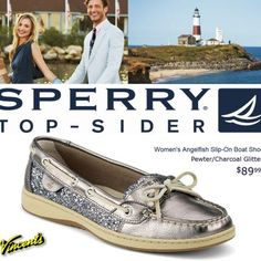 Silver Sparkel Sperry Top-Sider only $89.99 at Vincent's