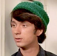 With his famous green wool hat! Pop Rock Bands, Cool Bands, Mike Friends, Classic Rock Artists, Michael Nesmith, Davy Jones, Old Music, The Monkees, My Only Love