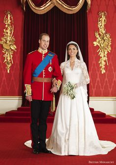 KATE. AND WILLIAM ON THEIR WEDDING DAY.
