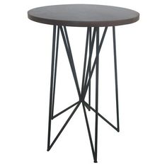 Mixed Material Accent Table Black - Room Essentials™ : Target