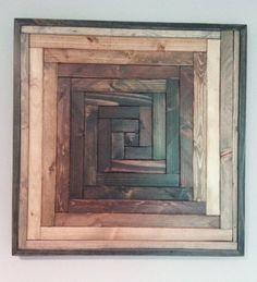 Pinwheel Pattern Wood Wall Art by WeatheredWoodWalls on Etsy