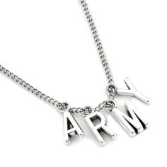 BTS Jimin Army Necklace - Gotamochi is the BTS Kpop Merch and Kawaii Clothes Aesthetics Store - Shop our largest selection of Kpop and Kawaii Apparel An ARMY essential! Rep BTS and match Jimin with this cute necklace. Jewelry Kpop, Cute Jewelry, Jewelry Accessories, Fashion Jewelry, Music Jewelry, Fashion Necklace, Boho Jewelry, Silver Jewelry, Bts Earrings