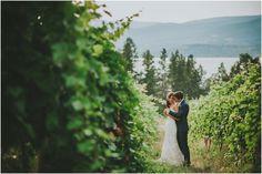 Stunning Winery Wedding at Summerhill Winery in Kelowna. Bride and Groom in Vineyard \ Joelsview Photography