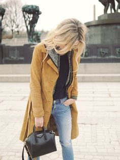 Style...Camilla Pihl // spring casual denim and suede look