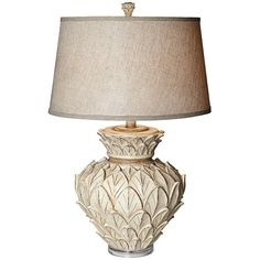 "Found it at Wayfair - PCL Artichoke 31"" H Table Lamp with Drum Shade http://www.wayfair.com/daily-sales/p/Turn-on-the-Charm%3A-Cottage-Chic-Lighting-PCL-Artichoke-31%22-H-Table-Lamp-with-Drum-Shade~PCL2266~E22224.html?refid=SBP.rBAZEVXPdJqKGgGnobZLAtkFcuE1UEBymyzRlr003FM"
