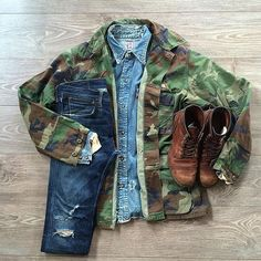 Red Wing Shoes Owners Club | youcantbuyland: paratrooper #levis...