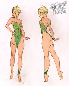 """Here's a peek behind the scenes of some of the artwork produced to create """"Tinkerbell"""", the second statue in the J. Scott Campbell's Fairytale Fantasies line from Sideshow Collectibles Join the RSVP list for more details as they are revealed Character Concept, Character Art, Concept Art, Character Design Cartoon, Character Design References, Comic Books Art, Comic Art, Dibujos Pin Up, Comic Kunst"""