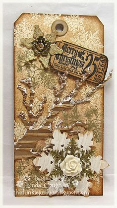 Gorgeous altered tag #paper