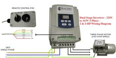 Dual Stage Inverter - 220V to 415V 3 Phase - 2 & 3 HP Wiring Diagram | Electrical Engineering World
