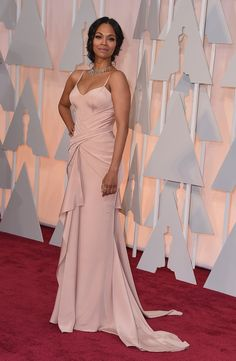 Pin for Later: We Know, Zoe Saldana Totally Took Your Breath Away at the Oscars