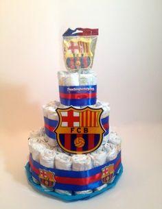 Tarta pañales F.C.Barcelona oficial