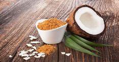 Ζάχαρη καρύδας: Γιατί είναι καλύτερη επιλογή από την λευκή ζάχαρη Nutrition, Macaron, Dog Bowls, Glass Of Milk, Breakfast, Food, Blood Sugar, Coconut, Greedy People