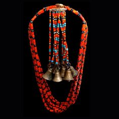 100+ Years Old!  Worn by shaman from ancient tribes of India and Tibet close to the Myanmar border, these necklaces were used in ritual dances to awaken the Gods. Each bell has a different tone a…