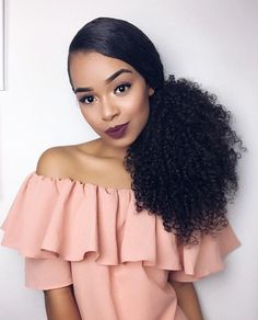 Drawstring Afro Puff Kinky Curly Ponytail Synthetic Hair Bun Chignon Hairpiece For Women Updo Clip in Hair Extension. Curly Hair Tips, Hair Dos, Curly Hair Styles, Natural Hair Styles, Curly Ponytail, Big Hair, Love Hair, Make Up Black, Daniel Santos