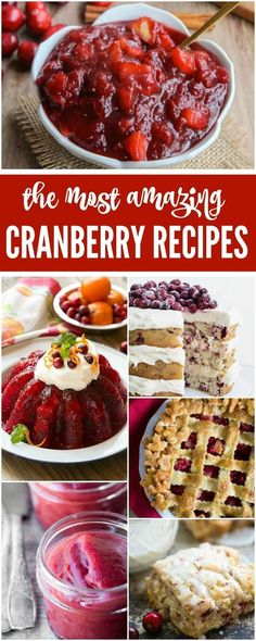 Thanksgiving Cranberry Recipes are a must have for your Thanksgiving Meal. Homemade Cranberry Sauce, Cranberry Salad, and More! #thanksgiving #recipes #holidays #thanksgivingrecipes