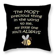 Little One You'll Always Bee Print Throw Pillow by Inspired Arts. Purchase in a variety of items at www.inspired-arts.artistwebsites.com