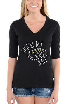 You're My Butter Half - Football V-Neck Tee