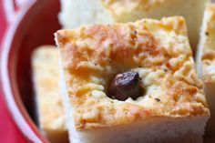 Roasted Garlic & Olive Focaccia