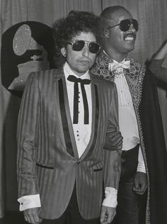 "tornandfrayed: ""Bob Dylan & Stevie Wonder. """
