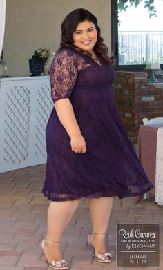 Real Curves for Sweet Leah Lace Dress