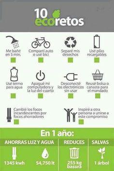 Foto: 10 Eco-Retos para el ahorro de Luz y Agua! Son fáciles y sencillos te invitamos a hacerlos. Chécalos!