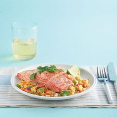 Get your fill of delicious and healthy food tonight with a hearty plate of salmon and quinoa. Find more salmon recipes at Chatelaine.com