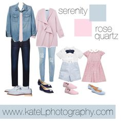 Rose Quartz + Serenity // Family Outfit by katelphoto on Polyvore featuring Gap, Vince, 7 For All Mankind, Anouki, TOMS, Jimmy Choo, LC Lauren Conrad, G-Star Raw, ASOS and Napoli