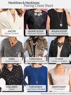 How to wear necklaces neckline outfit 25 trendy Ideas Neckline Guide, Necklace For Neckline, Gold Choker Necklace, Statement Necklace Outfit, Wedding Statement Necklaces, Fashion Vocabulary, Neck Choker, Necklines For Dresses, Diy Schmuck