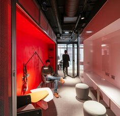 Techpump Headquarters Office Gijón / Spain The commission consists on the design of the new headquarters of a technological company: an open-plan office for 50 people, with three meeting rooms, lecture area, two little cubicle for individual use, and numerous spaces for workers to interact....
