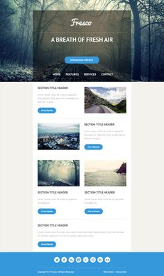 Five Responsive HTML Email Templates for Noupe Readers (plus PSD)