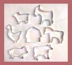 Barnyard animal cookie cutters