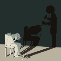 Depressão é aquilo que acaba com você aos poucos, te molda até que não reste mais nada.