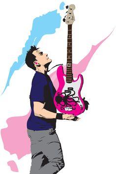 Mark Hoppus of Blink 182 handdrawn poster print by Aut0matix8, $20.00