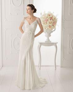 vestido corte recto novia - Buscar con Google