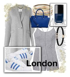 """London Love ( ˘ ³˘)♥"" by ket0-swag ❤ liked on Polyvore featuring L.K.Bennett, adidas, Olive + Oak, Kendra Scott, Chanel, Michael Kors, travel, england, London and vacation"
