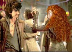 Hiccup be like hey girl how you doing. And Merida be like hot diggedy dog you're hot. lol XD