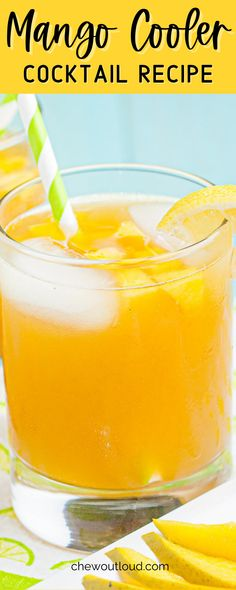 This Mango Cooler is a simple and easy cocktail you can shake up in no time. Perfect for sipping on warm summer days. #mangocooler #mangocoolercocktail #cocktail #summercocktail #summerrrecipes Cocktails For Beginners, Easy Summer Cocktails, Winter Cocktails, Refreshing Cocktails, Fun Cocktails, Fun Drinks, Cocktail Party Food, Cocktail Drinks, Cocktail Recipes